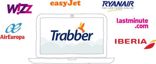 Les agences en ligne et compagnies aériennes, fournisseurs de Trabber